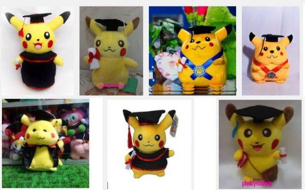 boneka wisuda pokemon