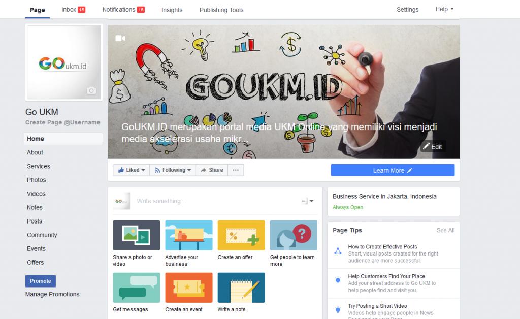 Manfaat Facebook Fanspage Usaha Ukm Cara Membuat Halaman Fb