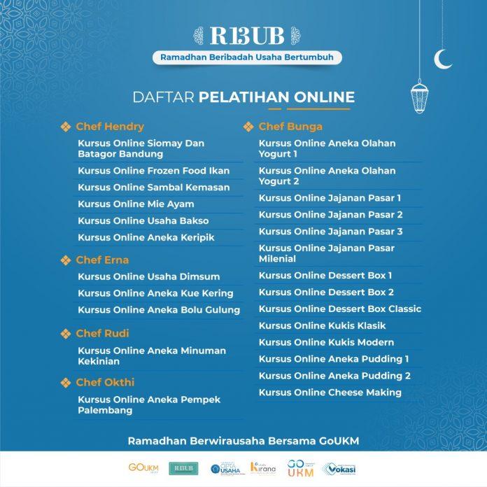 Isi Ramadhan Produktif dengan Mengikuti Pelatihan Online dari Program RBUB